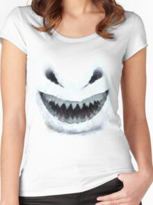 Doctor Who - Evil Snowman Women's Fitted Scoop T-Shirt