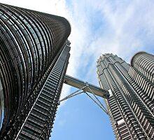 Steel Twins - Kuala Lumpur, Malaysia. by Tiffany Lenoir