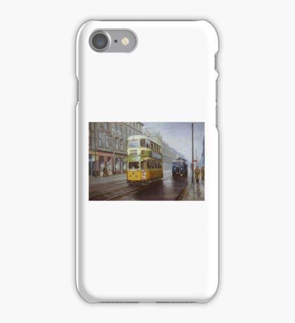 Glasgow tram in Sauchiehall Street iPhone Case/Skin