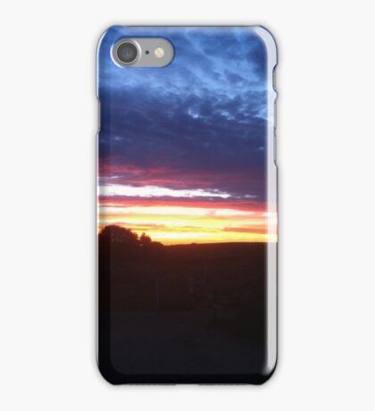 Sunset in Suffolk iPhone Case/Skin