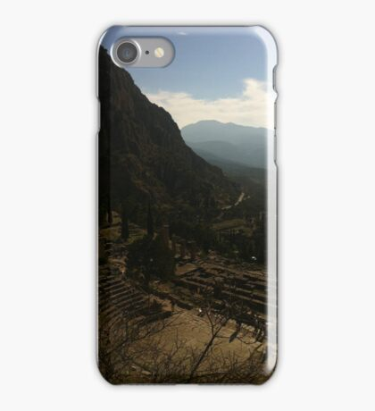 Ancient amphitheatre, Delphi iPhone Case/Skin