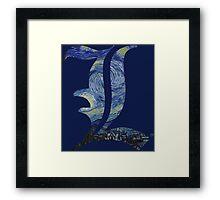Starry L Framed Print