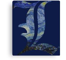 Starry L Canvas Print