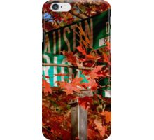Fall Walk in my Neighborhood - Street Sign iPhone Case/Skin