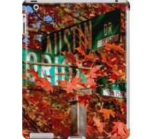 Fall Walk in my Neighborhood - Street Sign iPad Case/Skin