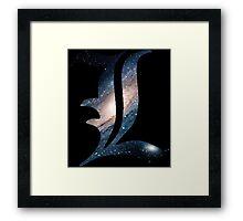 Spacey L Framed Print