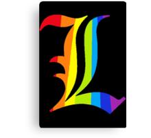 Rainbow L Canvas Print