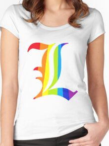 Rainbow L Women's Fitted Scoop T-Shirt