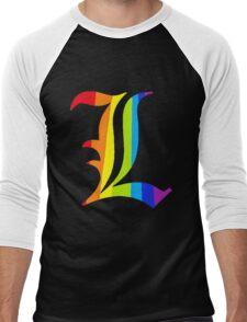 Rainbow L Men's Baseball ¾ T-Shirt