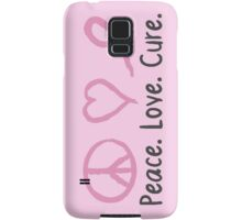 Peace Love Cure Samsung Galaxy Case/Skin