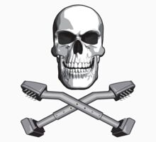Carpet Installer Skull by dxf1969