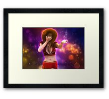 Girl blowing snow 3 Framed Print