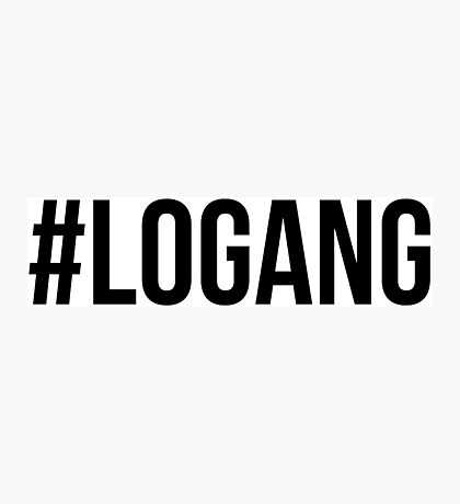 #LOGANG - Black Font Photographic Print