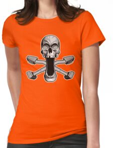 Carpet Layer Skull Womens Fitted T-Shirt