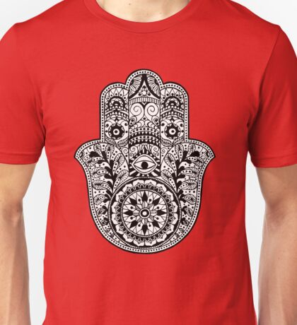 Black And White Hamsa Unisex T-Shirt