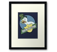 Duck-Tective Framed Print