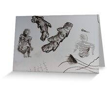sketch book ginger body Greeting Card