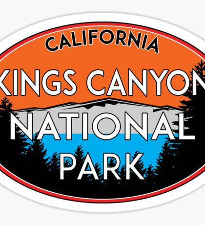 KINGS CANYON NATIONAL PARK CALIFORNIA MOUNTAINS HIKE HIKING CAMP CAMPING Sticker