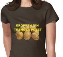 Kroppen din trenger potet Womens Fitted T-Shirt