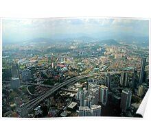 Cityscape - Kuala Lumpur, Malaysia Poster