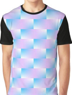 Blue and Violet Pattern Graphic T-Shirt