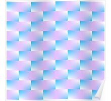 Blue and Violet Pattern Poster