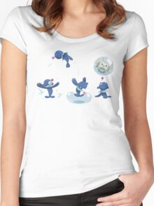 Pokemon /A - Popplio Party Women's Fitted Scoop T-Shirt