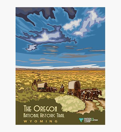 Vintage poster - The Oregon Trail Photographic Print