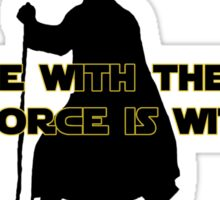 I am One with The Force - The Force is with Me Sticker