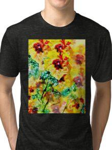 Impressionist Hibiscus Series - Original Tri-blend T-Shirt