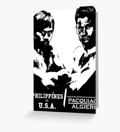 PACQUIAO-ALGIERI FIGHT Greeting Card