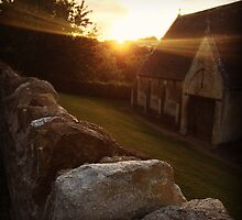 Tithe Barn Sunset by arttochoke