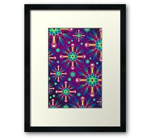 Abstract purple floral pattern Framed Print