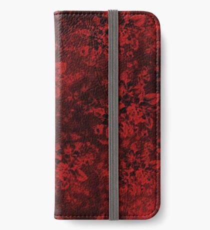 Red Floral Abstract iPhone Wallet/Case/Skin