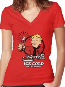 Fallout - Nuka Cola Women's Fitted V-Neck T-Shirt