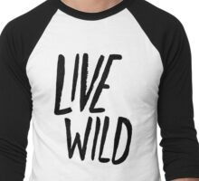Live Wild: Ocean Men's Baseball ¾ T-Shirt