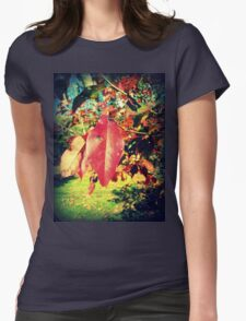 Leaf Me Alone 1.0 Womens Fitted T-Shirt