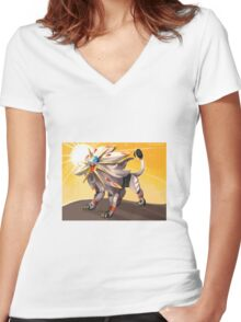 Pokémon - Solgaleo Women's Fitted V-Neck T-Shirt