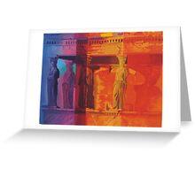 Coloured Caryatids Greeting Card