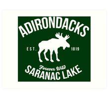Awesome Adirondacks Saranac Lake New York Scenic Beauty Moose Nature T-Shirt Art Print