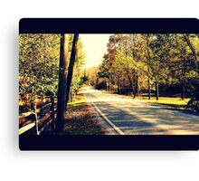 Autumn Road 1.1 Canvas Print