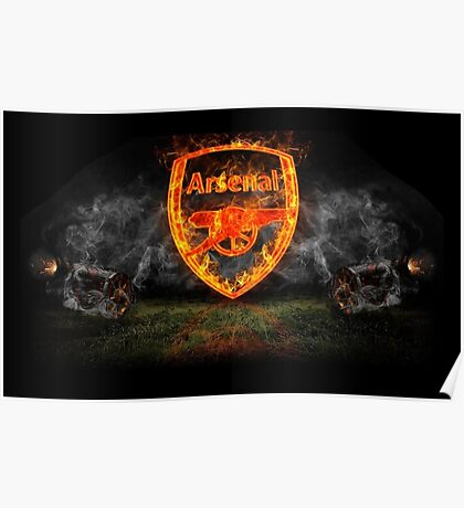 arsenal fc logo fire Poster