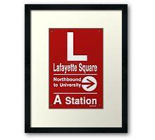 Lafayette Square Northbound Framed Print
