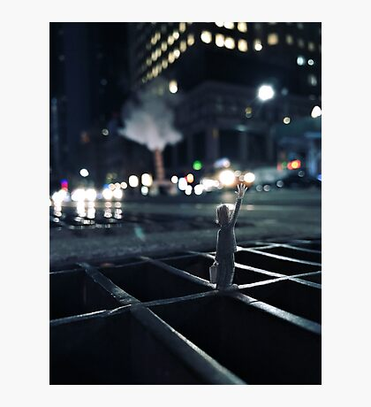 taxi! - new york, new york Photographic Print
