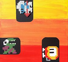 Dig Dug (Paint 'N' Beads) by christiantyner