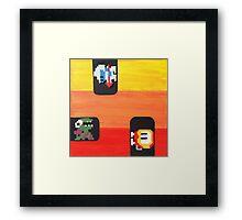 Dig Dug (Paint 'N' Beads) Framed Print