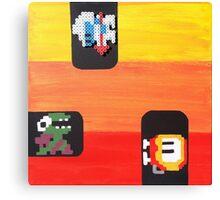 Dig Dug (Paint 'N' Beads) Canvas Print