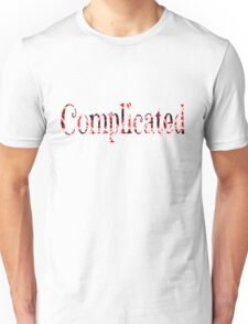 Complicated Multi Color Pattern Red Unisex T-Shirt