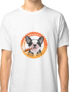 Cute dog head with a Cuban cigar Classic T-Shirt