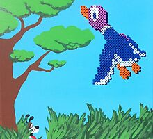Duck Hunt Purple (Paint 'N' Beads) by christiantyner